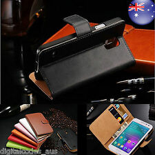 Premium Samsung Galaxy A3 A5 Genuine Leather Case Cover Wallet