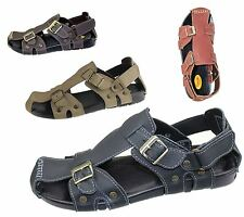 BOYS MENS VELCRO BUCKLE SPORTS SANDALS COMFORT WALKING SUMMER BEACH MULES NEW