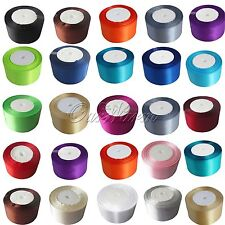 "New 25 Yards 2"" 50mm Satin Ribbon Sash Bow Craft Wedding Banquet Party DIY Decor"