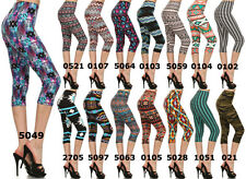 N21 NEW HIGH WAIST AZTEC TRIBAL ARMY Houndstooth PRINT CAPRI CROP LEGGINGS PTCA