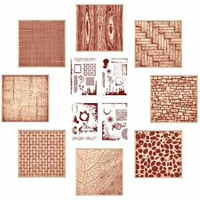 SALE NEW Release Crafter's Companion TEXTURES EMBOSSING FOLDERS & STAMPS