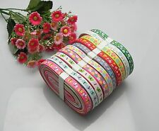 "20yards 3/8"" mixed 10 Style sewing satin grosgrain ribbon lot wholesale A30p"