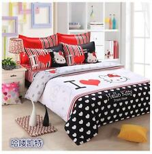 Hello Kitty Twin Full Bed Set Duvet Cover Comforter, Pillow Case (s), Flat Sheet