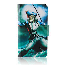 Pirate Captain Design Magnetic PU Leather Flip Case Cover For Nokia Mobile 05