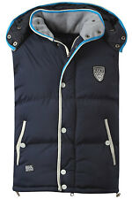 New Mens Max Edition Sapporo Quilted Padded Hooded Gilet Bodywarmer Jacket Size