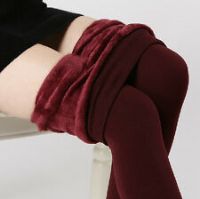 Fashion Women's  New Thick and Warm Fluffy Lined Thermal Stretchy Leggings Pants