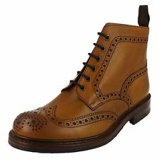 Mens Loake Tan Leather Lace Up Boots UK SIzes 7-11 G Fitting Bedale