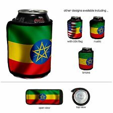 Beverage insulator wrap  - Flag of Ethiopia - Choose your design