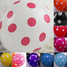 10x Cute Latex Polka Dot Balloons Party Wedding Holiday Festival Decorating NEW