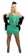 FASHION FLAPPER 20s PLUS SIZE FANCY DRESS COSTUME ADULT LADIES JADE GATSBY
