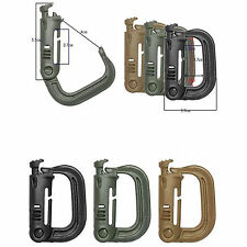 4x Grimloc D-ring tactical molle Locking webbing buckle carabiner climbing hook