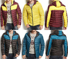 NWT Armani Jeans Reversible Colorblocked Hooded Puffy Slim Fit Jacket