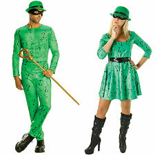 Riddler Costume Men and Women Fancy Dress Costumes Superheroes DC Comics Cane