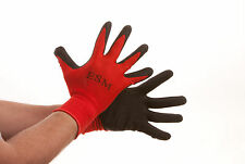 300 Pairs Premium BLACK/RED Latex Rubber Coated Palm Work Gloves