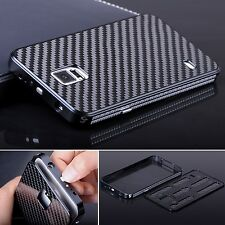 Luxury Aluminum Metal Carbon Fiber Back Case For Samsung Galaxy Note 4 N9100