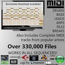 Midi Files - Drums Bass Songs Ableton Cubase Reason Logic Pro Mulab Studio one