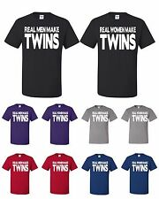 Real Men Women Make Twins Funny Couples Matching T-shirts Gift For Mom And Dad