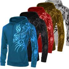 Men's Slim Fit Tattoo Hooded Jacket Top Designed Hoodies Hooded Sweatshirt Coat