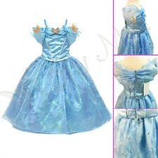 Hot Disney Movie Cinderella Gown Blue Dress Ella Kids Sling Girls Princess Dress