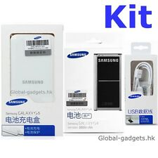 New Genuine Original SAMSUNG Galaxy S5 SM-G900 Battery and Charger in sealed NFC