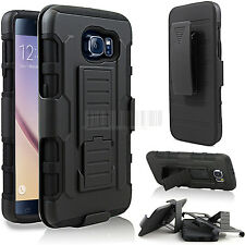 Armor Rugged Shockproof Hybrid Impact Hard Holster Stand Case Cover For Samsung