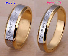 Womens Mens Forever Love Gold Couple Rings Size 6-10