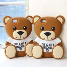 3D Cartoon Teddy Bear Soft Silicone Back Cover Case Skin for iPhone 5s 6 6 Plus
