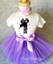 Minnie Mouse lavender pink Baby Girl 1st First Birthday Tutu Outfit Shirt Set