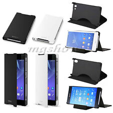 Genuine Original UltraThin Stand Flip Leather Case For Sony Xperia Z2 Z3 Compact