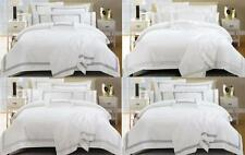1000TC White Hotel Style Emb Cotton QUEEN/SUPER/KING Quilt Doona Duvet Cover Set