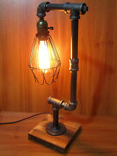 Vintage Industrial Retro Style Adjustable Iron Pipe Desk Table Lamp Light