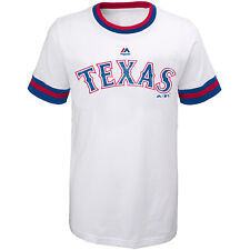 Majestic Athletic Youth Texas Rangers Double Layered Collar Short-Sleeve T-Shirt