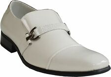 New Men's Leather Classic Wedding Formal Church Party Dress Shoes White 19