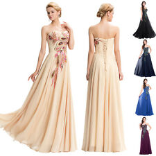 White Long Formal Evening Prom Party Gown Lace Dress Masquerade Wedding Dresses
