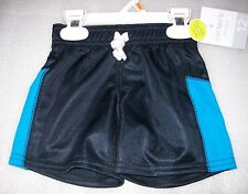 BOYS TODDLER CARTERS ATHLETE SHORTS BLACK/BLUE SIZE 12 MONTHS  NEW WITH TAGS