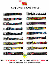 Marvel Super Heroes - Dog Collar Seatbelt Buckle Neck Strap Adjustable 15-24 in