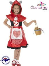 GIRLS Little Red Riding Hood Costume Fancy Dress Party Age 4-9 Book Week