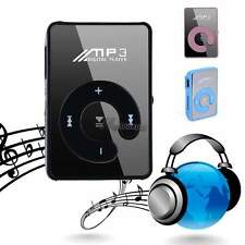 New Support Up To 8GB Mini Clip Mirror USB MP3 Player Micro SD TF Memory Card WT