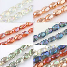 5/10Pcs Stone Shape Crystal Glass Charms Loose Spacer Beads Makings 10x5mm