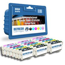 REMANUFACTURED (NON GENUINE) T0801-6 21 INK CARTRIDGE PACK FOR EPSON PRINTERS