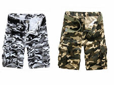 Mens Outdoor Army Camouflage Camo Shorts Casual Military Cargo Camo Combat Pants