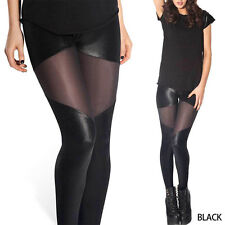 Elegance Cool Womens Lace Skinny Tight Trousers Leggings Gridding Jumpsuit Black