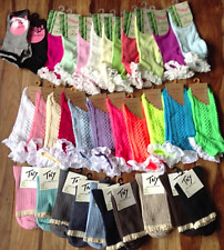 ANKLE & TRAINER SOCKS LACE FRILL NEON & PASTEL LADIES GIRL SCHOOL COLLEGE DANCE