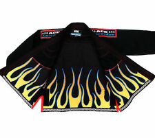 Ace LOW RIDER Gi Black BJJ MMA Rash Guard Lined Brazilian Jiu Jitsu Grappling