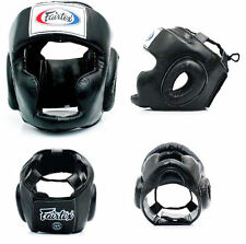 FAIRTEX MUAY THAI BOXING Full Face Closed Sparring Headgear HG3 NEW