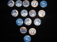 BYU cougers 15  flat back buttons or pin badges cabochons embellishments centers