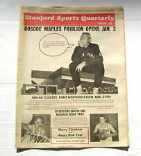 12/13/68 Stanford Cardinals Sports Quarterly Newspaper Maples Pavilion Opens
