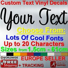 Personalized CUSTOM TEXT Name XXL Large size Vinyl Decal Sticker Car Laptop Wall