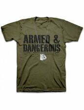Mens Christian T-Shirt ARMED & DANGEROUS by Kerusso BRAND-NEW