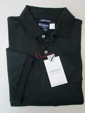 Cremieux 100% Supima Cotton Short Sleeve Two Button Mens Black Polo Shirt NWT